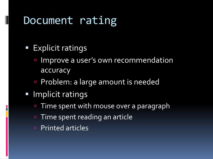 Document rating