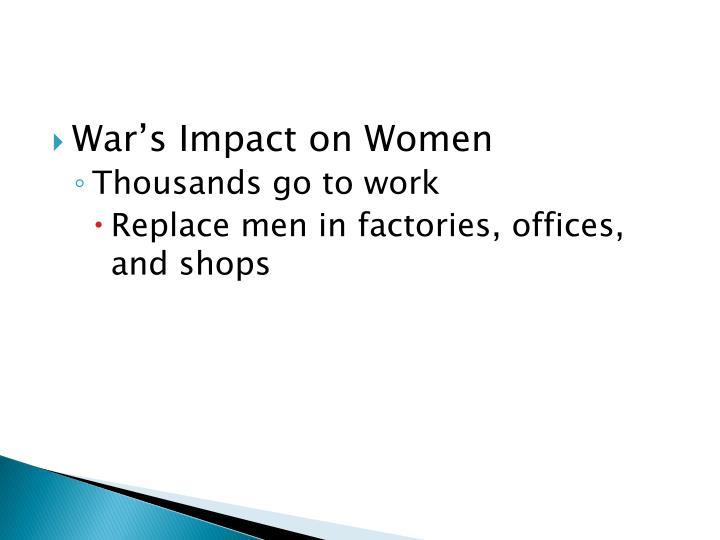 War's Impact on Women