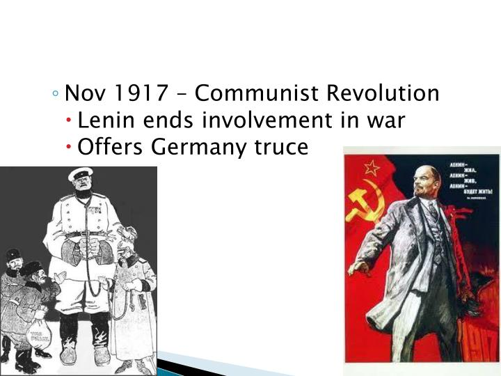Nov 1917 – Communist Revolution