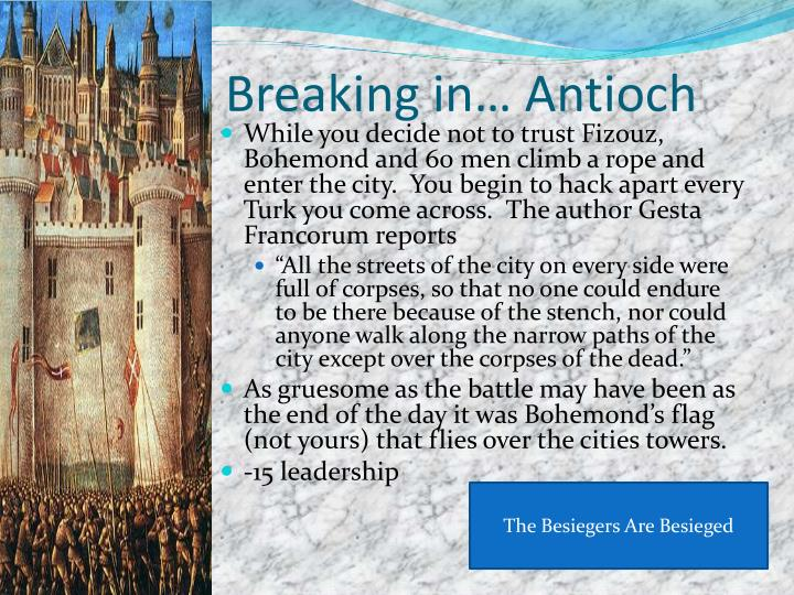 Breaking in… Antioch
