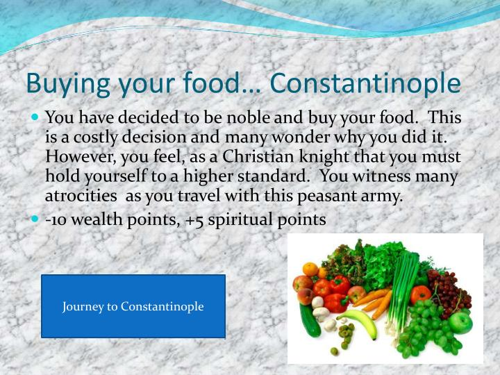 Buying your food… Constantinople