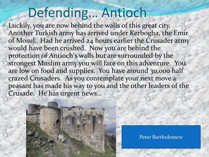 Defending… Antioch