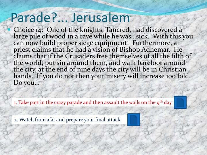 Parade?... Jerusalem