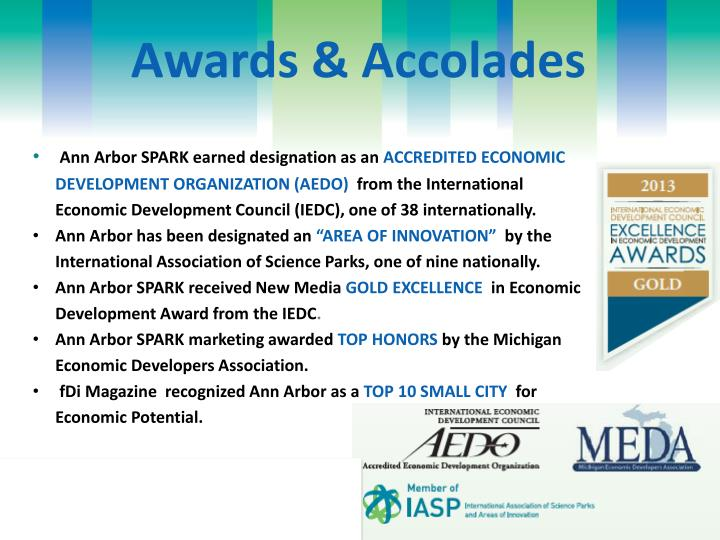 Awards & Accolades