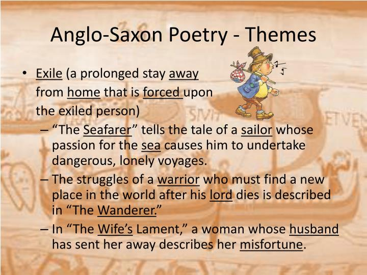 a comparison of anglo saxon ideals and values in the wanderer and the seafarer