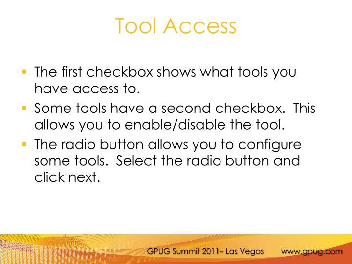 Tool Access