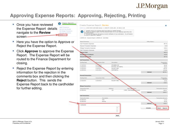 Approving Expense Reports:  Approving, Rejecting, Printing