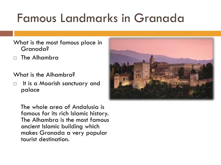 Famous Landmarks in Granada