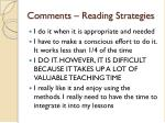 comments reading strategies