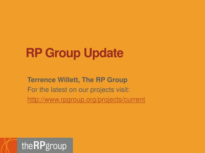 RP Group Update