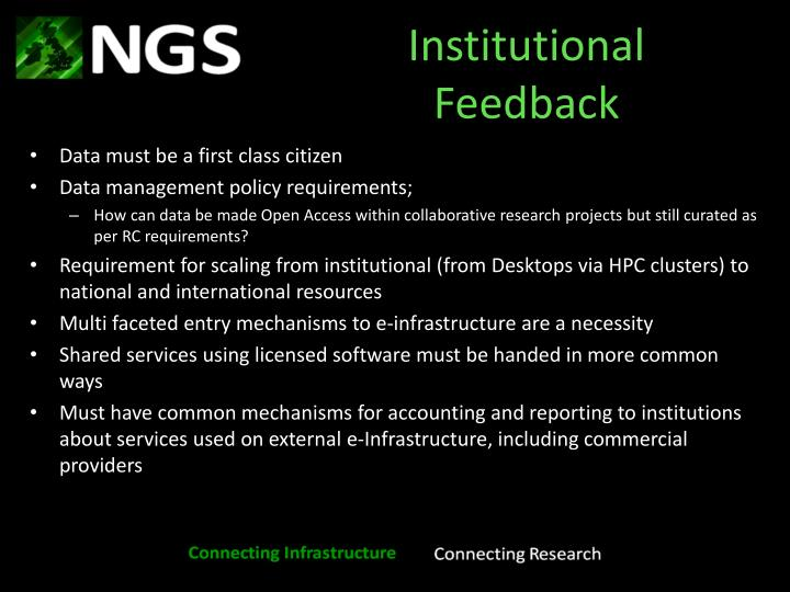Institutional Feedback
