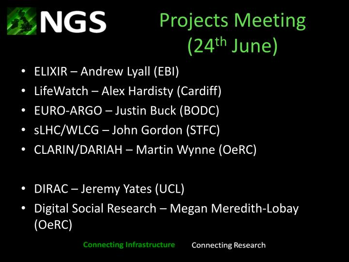 Projects Meeting (24