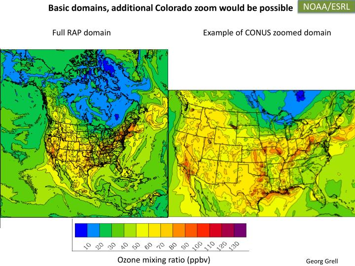 Basic domains, additional Colorado zoom would be possible