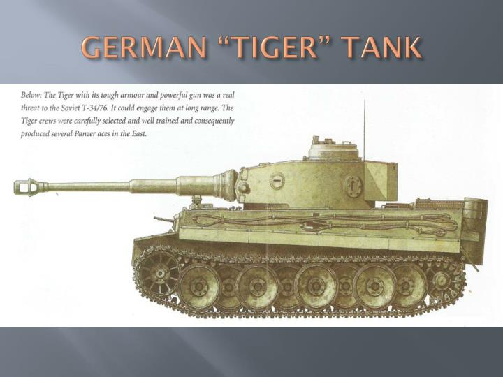 "GERMAN ""TIGER"" TANK"