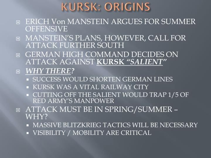 KURSK: ORIGINS