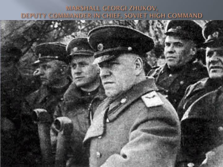 MARSHALL GEORGI ZHUKOV,