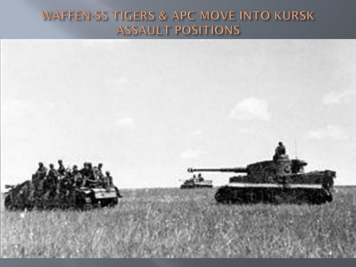 WAFFEN-SS TIGERS & APC MOVE INTO KURSK ASSAULT POSITIONS