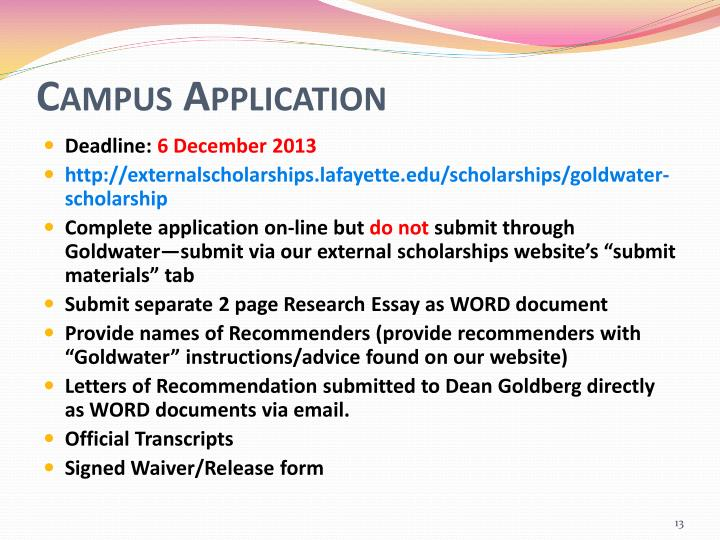 Campus Application