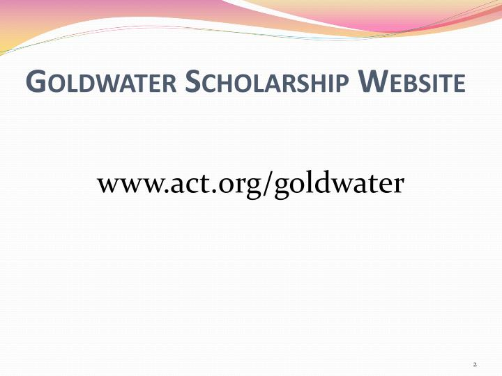 Goldwater scholarship website
