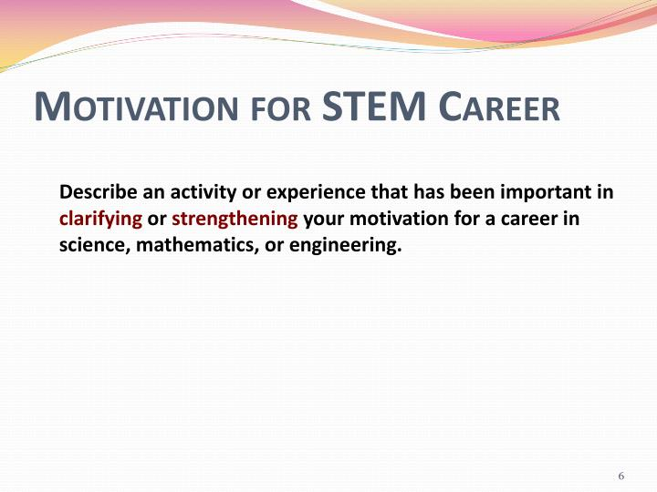 Motivation for STEM Career
