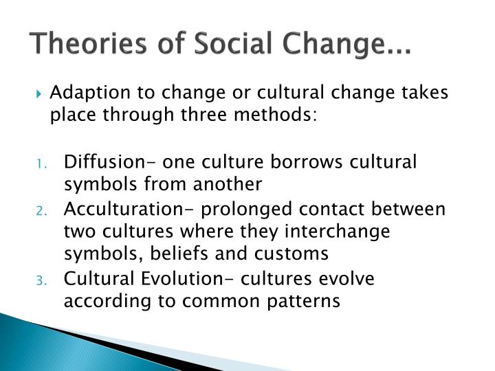 theories of social change Ire 440: international relations of social change dr mark spokes valeria del castillo critical theory and social change western thought has.