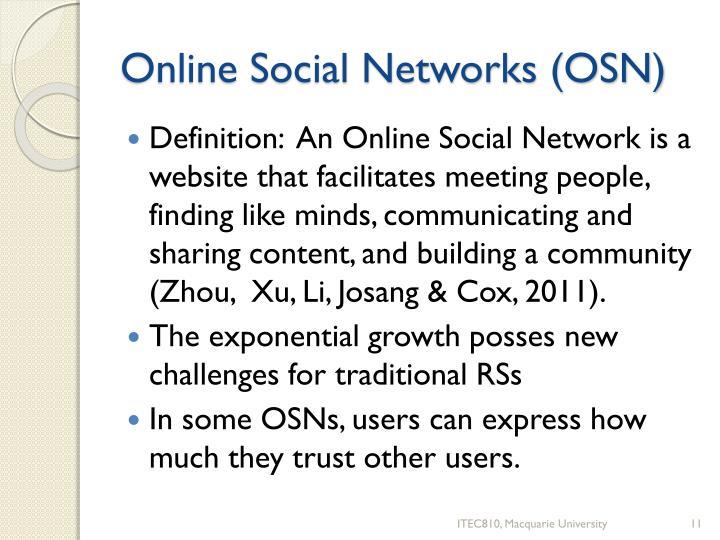 Online Social Networks (OSN)
