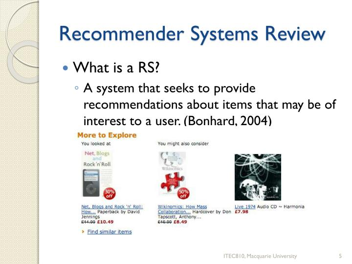 Recommender Systems Review