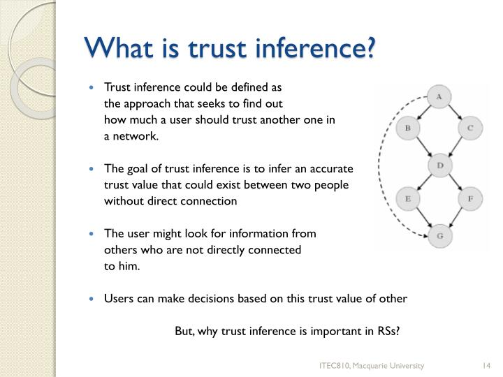 What is trust inference?