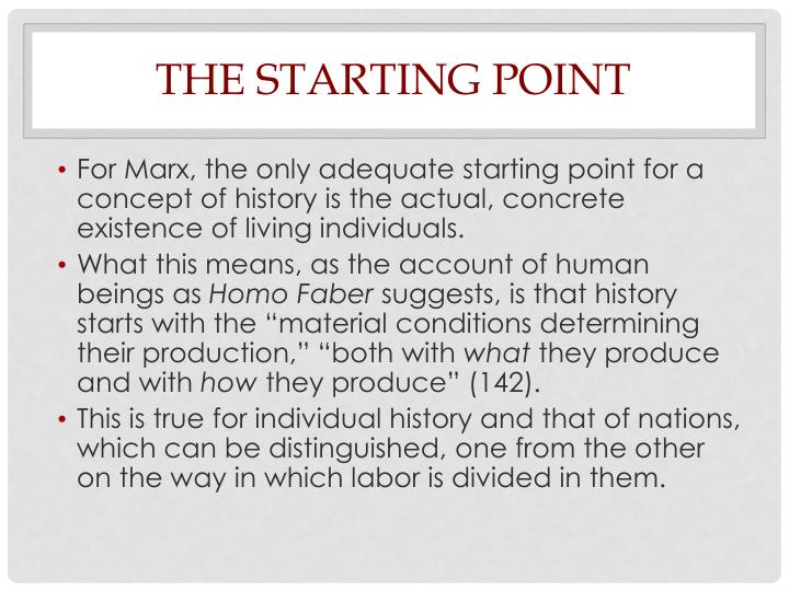 The Starting Point