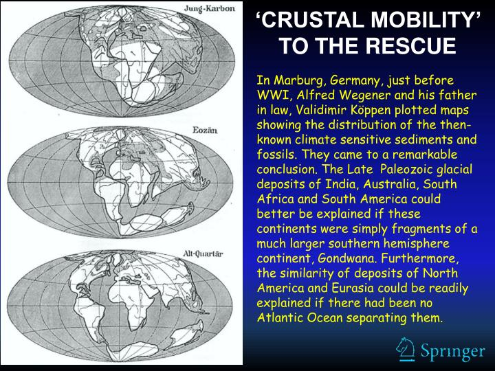 'CRUSTAL MOBILITY' TO THE RESCUE