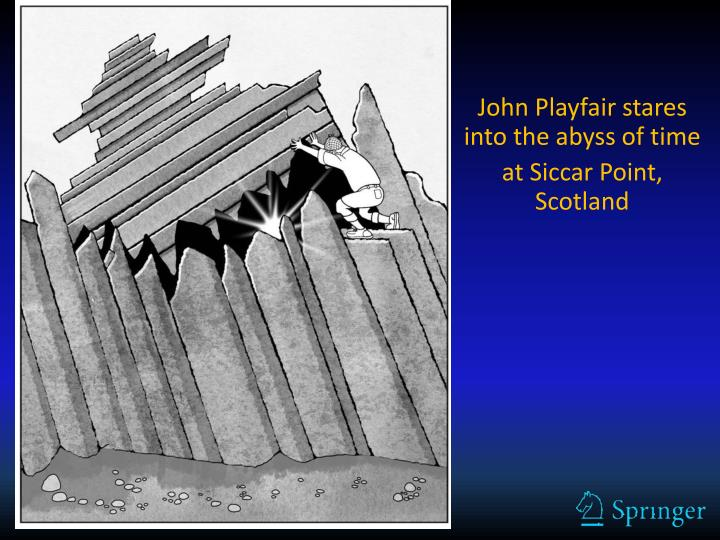 John playfair stares into the abyss of time at siccar point scotland