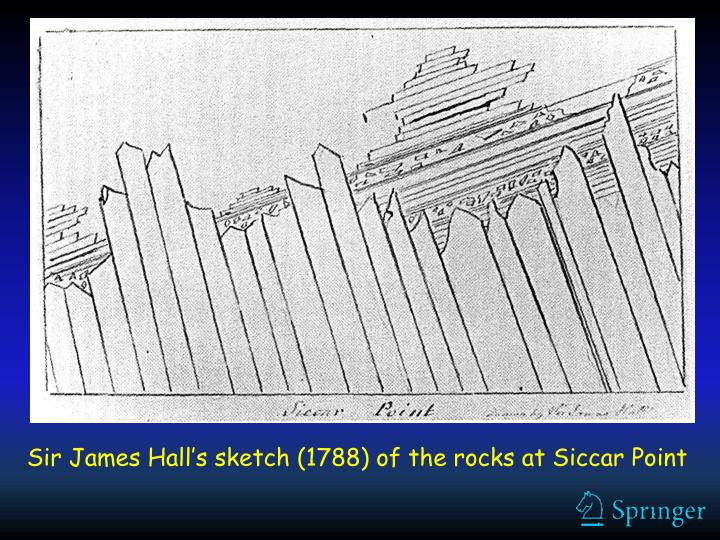 Sir James Hall's sketch (1788) of the rocks at