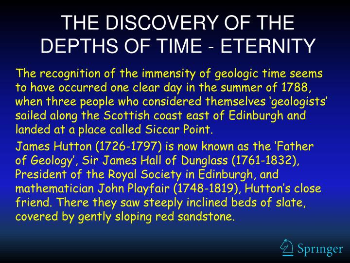 THE DISCOVERY OF THE DEPTHS OF TIME - ETERNITY