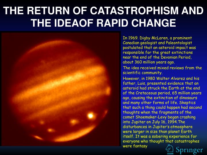 THE RETURN OF CATASTROPHISM AND THE