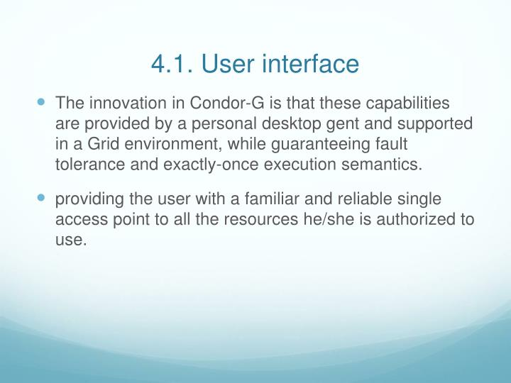 4.1. User interface