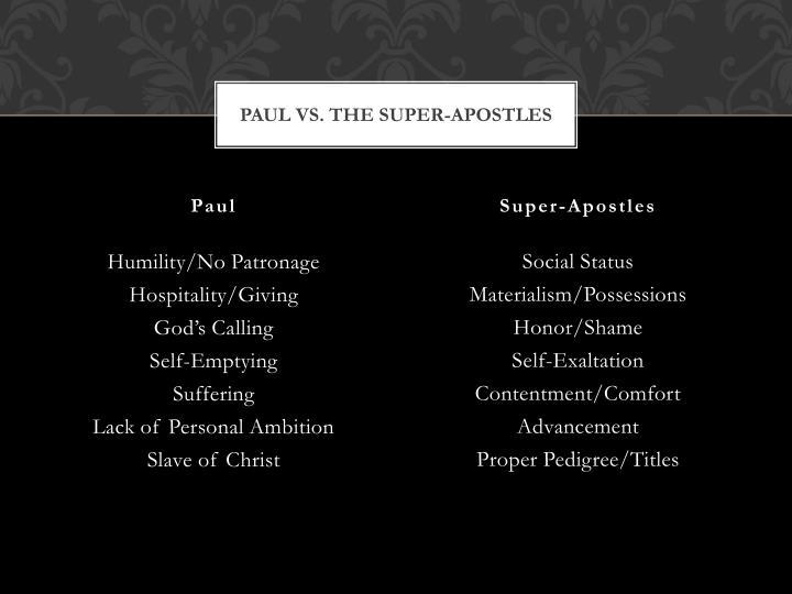 Paul vs. the Super-apostles