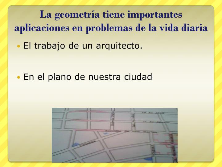La geometría tiene importantes aplicaciones en problemas de la vida diaria