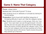 game 5 name that category