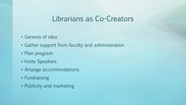 Librarians as Co-Creators
