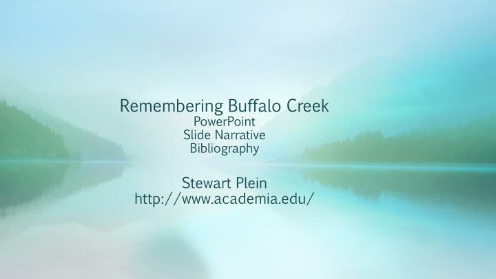 Remembering Buffalo Creek