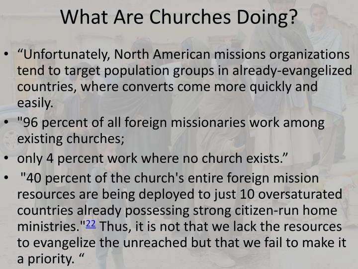 What Are Churches Doing?