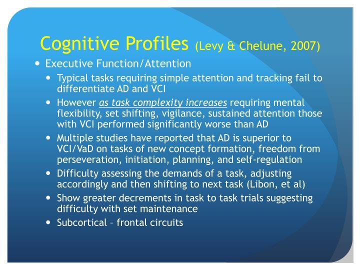 Cognitive Profiles
