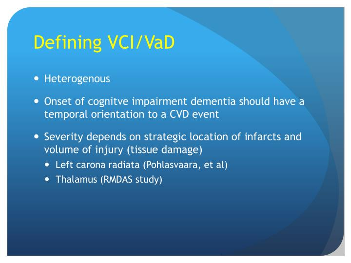 Defining VCI/