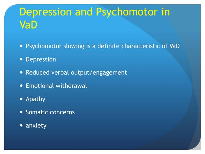Depression and Psychomotor in
