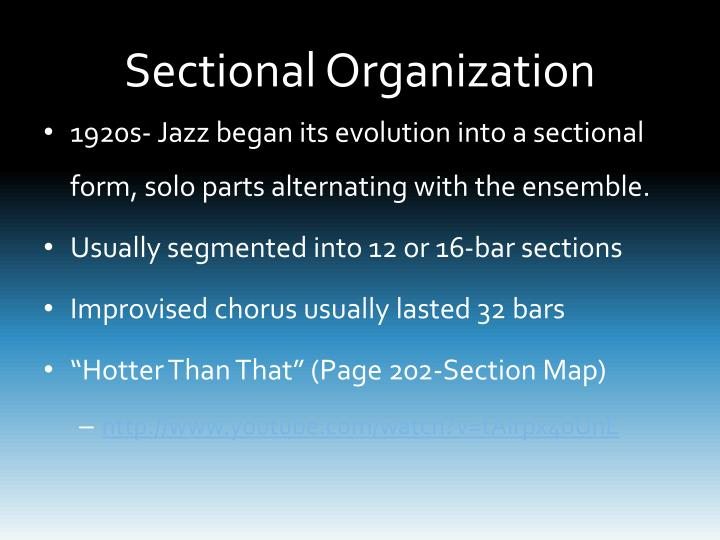 Sectional Organization