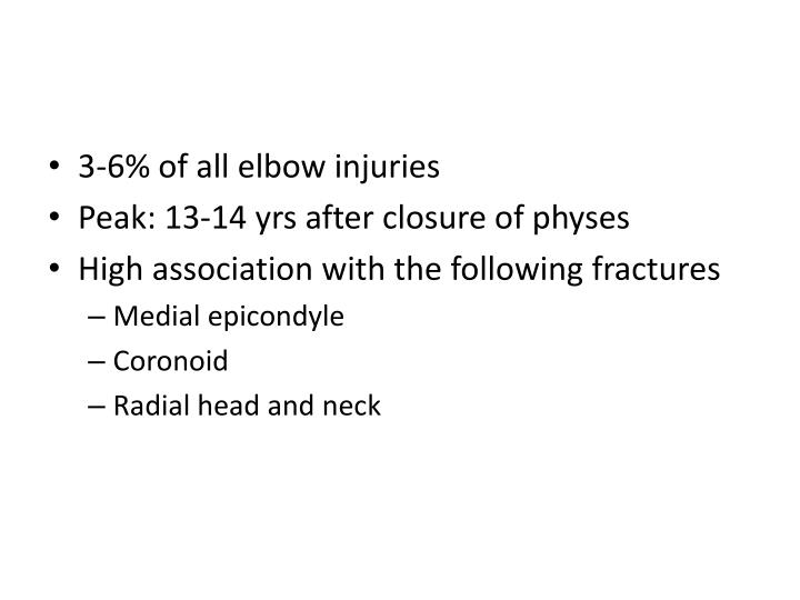 3-6% of all elbow injuries