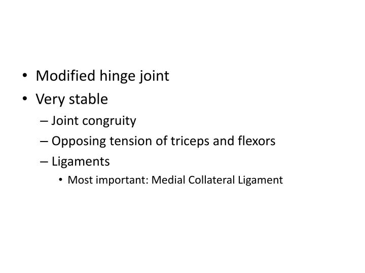 Modified hinge joint
