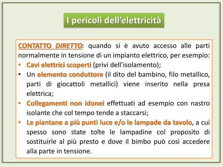 I pericoli dell'elettricità