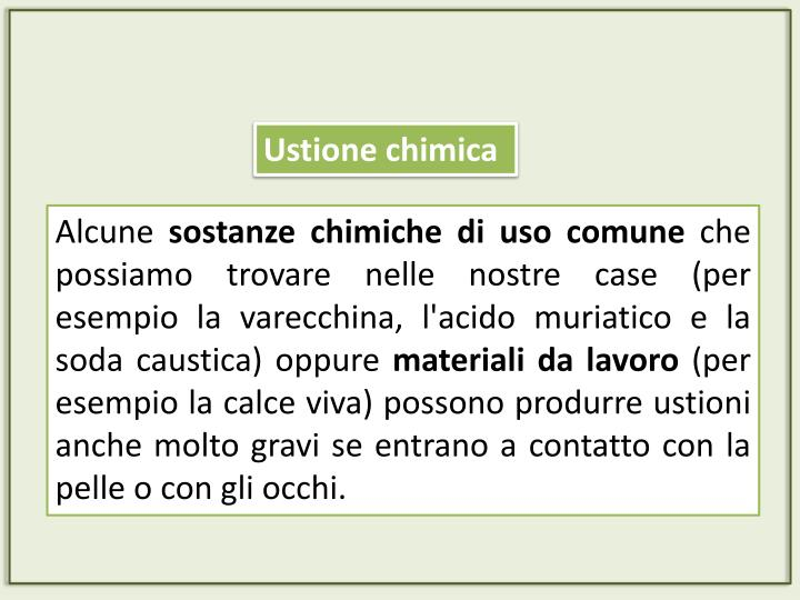 Ustione chimica