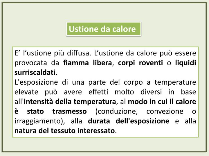 Ustione da calore